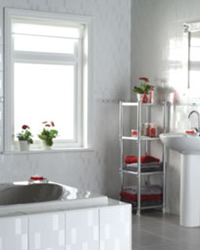 White fitted bathroom